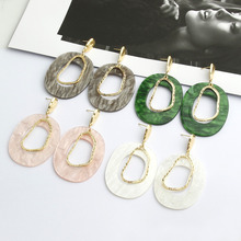 New fashion Korean acrylic and metal dangle earrings gold 4 style turtle statement drop for women jewelry