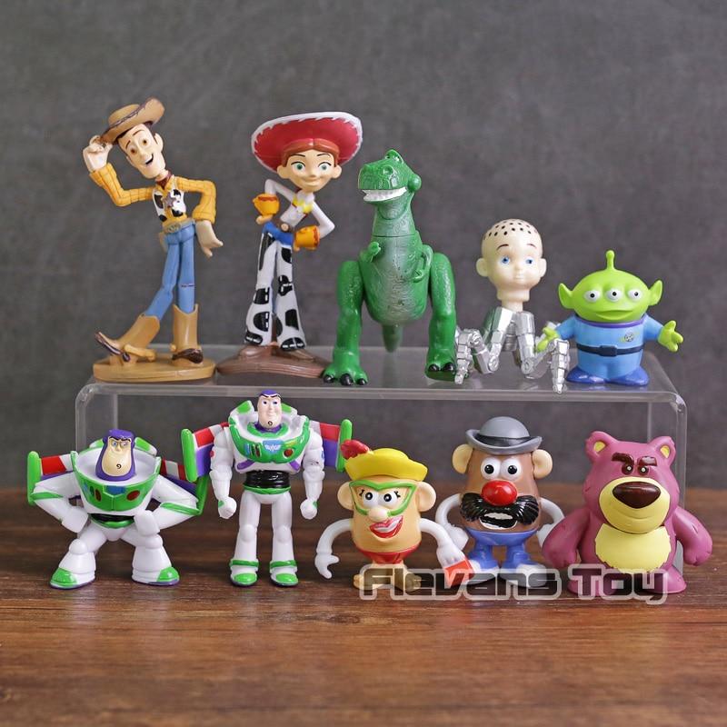 Hot Sale Toy Story 3 Woody Buzz Lightyear Jessie Rex Alien Lotso Mr