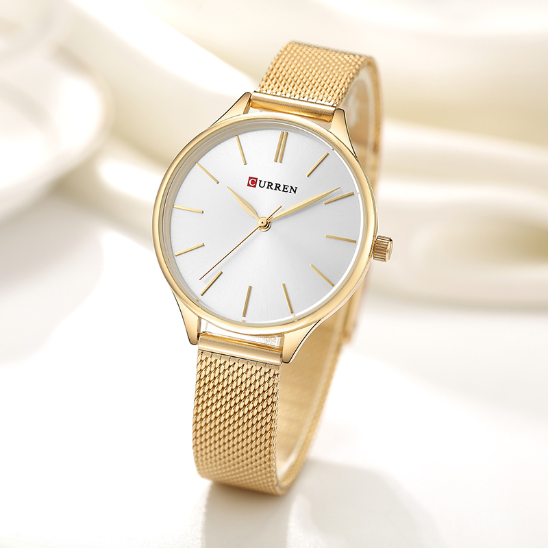CURREN Women Watches Luxury Couple Dress Wristwatch Relogio Feminino Clock for Women Montre Femme Quartz Ladies Watch for Lovers wlisth couple watch women men luxury crystal quartz wrist watches lovers clock week date rose gold montre femme relogio feminino