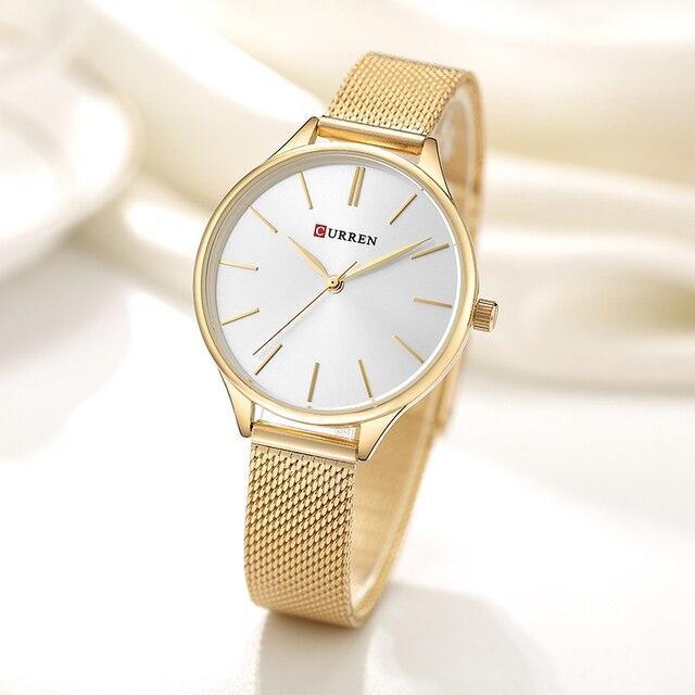 CURREN Women Watches Luxury Couple Dress Wristwatch Relogio Feminino Clock for W
