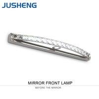 JUSHENG Transparent Crystal Mirror Lamp 54cm Long Cool White LED Wall Light IC Driver 110/220v Bathroom Lamp