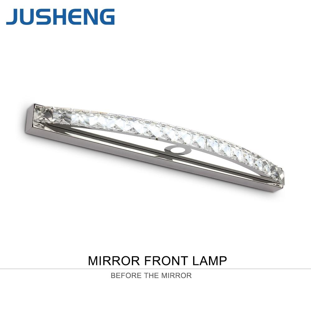 JUSHENG Transparent cristal miroir lampe 54 cm Long blanc froid mur LED lumière IC Driver 110/220 v lampe de salle de bain