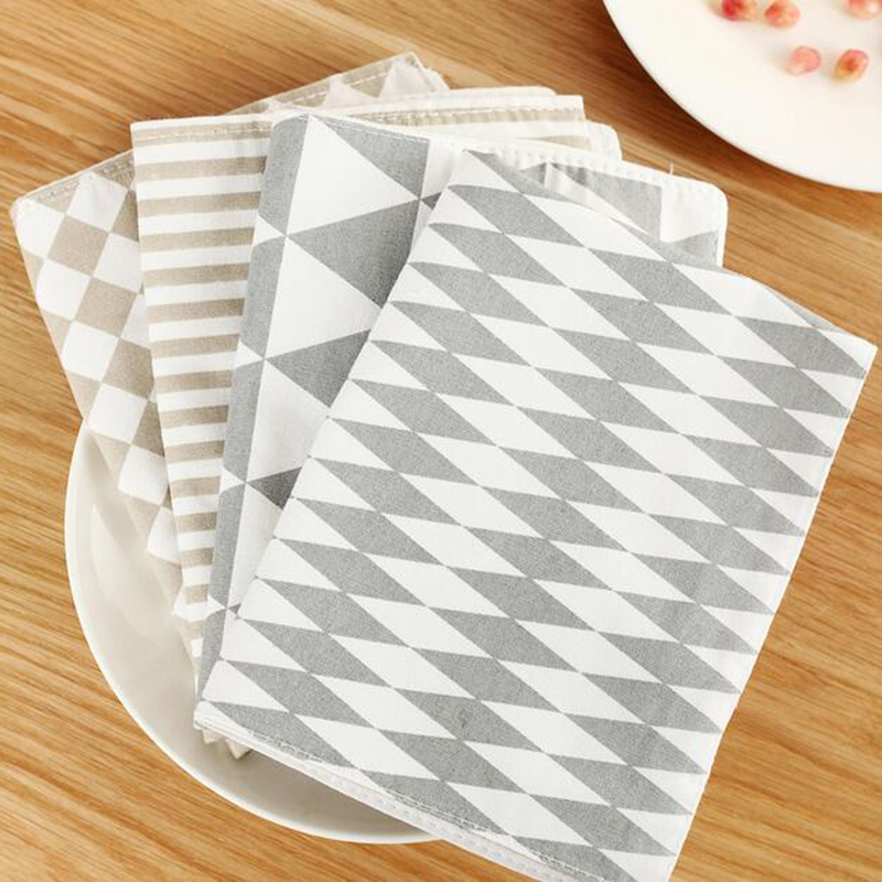 New Fresh Creative Geometric Europe Placemat Cotton Table Mat Fashion Pattern 4 Colors Place Mats Quality Dinning Pads