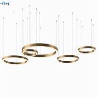 Nordic современный кольцо форма открытый подвесные светильники для зал гостиная ресторан исследование офис современный светильник повесить