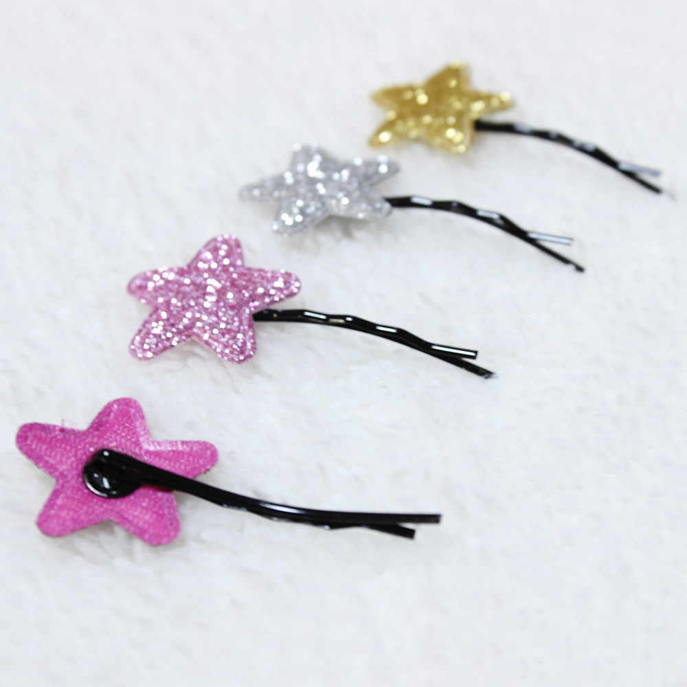 Baby Girl Hair Accessories unicorn party 2PCS Hair Clips Girls Party Sequins Princess Star Leather Hair Style Buckle Bows Turban