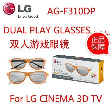 c561ed9889966 2 pcs óculos 3d AG-F310DP AGF310DP DUAL PLAY GAME óculos para LG cinema3D tv