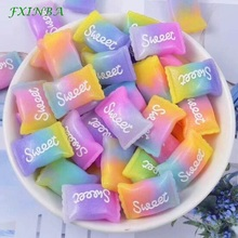 FXINBA 5Pcs/Lot Slime Charms Rainbow Sugar/Unicorn/Dolphin For  DIY Cake Phone Decoration Supplies Sprinkles Toys Mud Clay