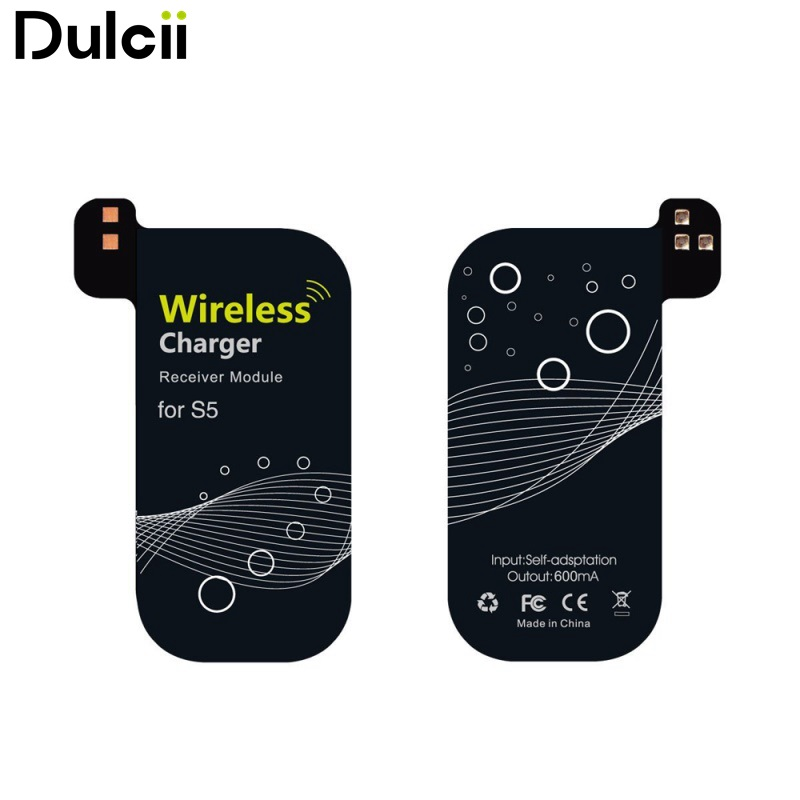 DULCII for Samsung Galaxy S5 Qi Wireless Charging Receiver 0.5mm Ultra-thin Qi Standard Wireless Charging Module for Samsung S5