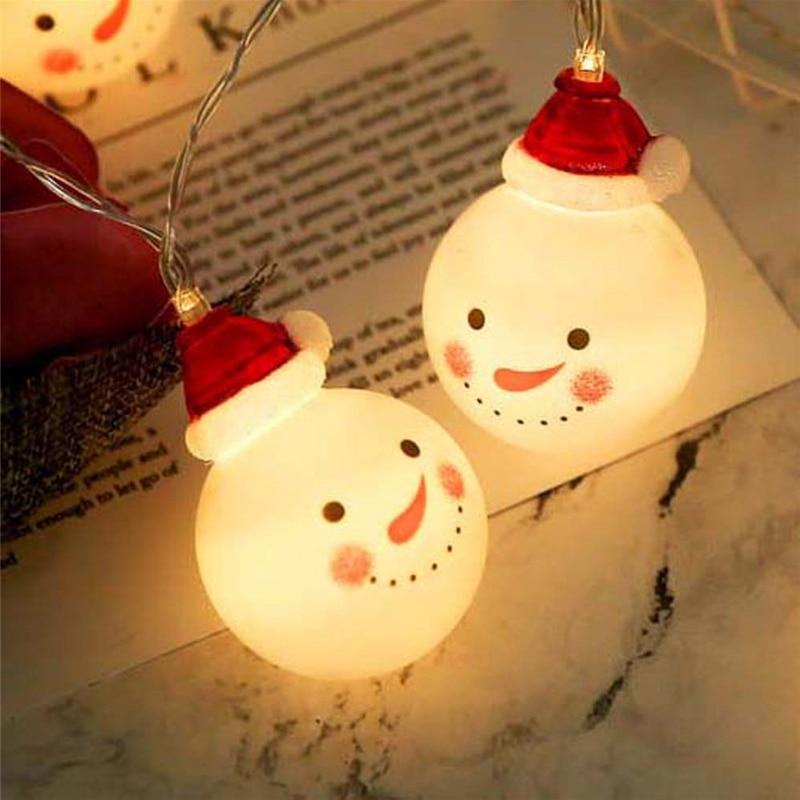 1.5M 10LED Snowman Led Fairy String Lights Santa Led Christmas Light Home Garden Indoor Party Wedding Christmas Decoration Light