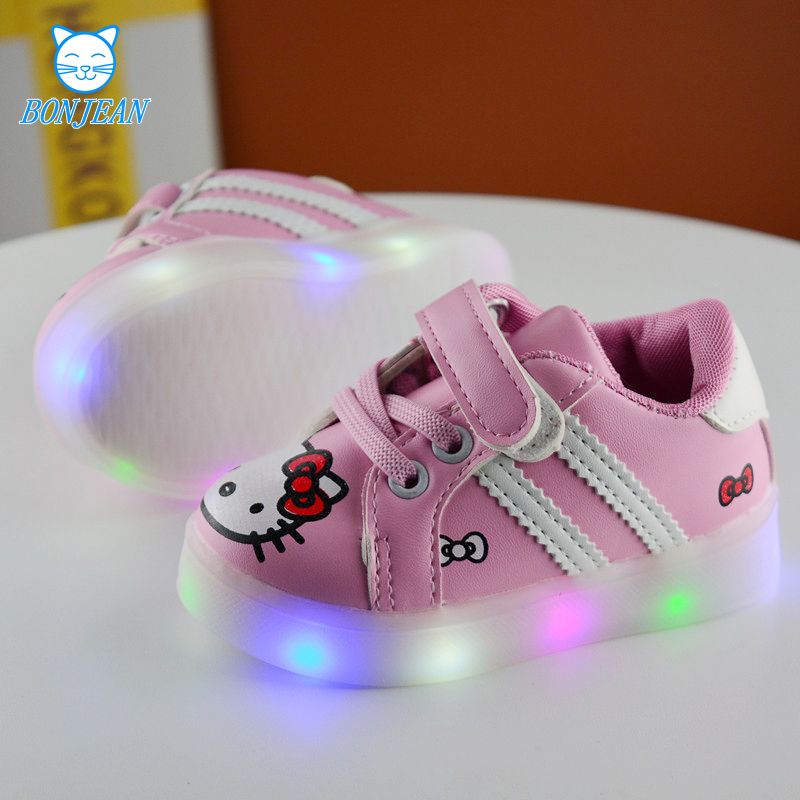 2017 New LED light boys Girls Casual Shoes With Children s Breathable Running Shoes Sport Shoes