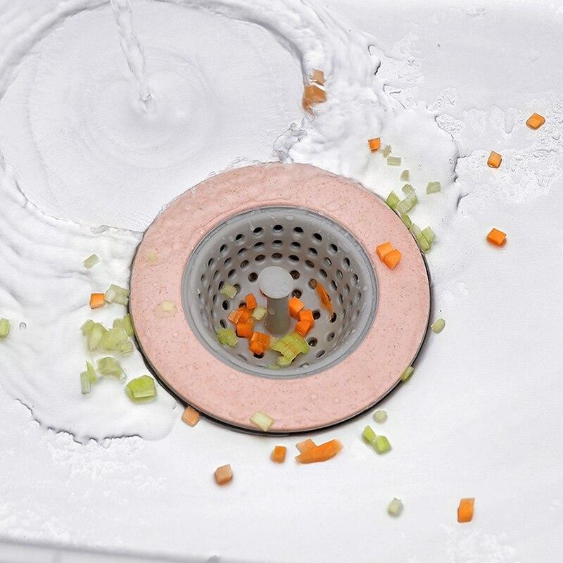 Round Silicone Kitchen Sink Strainer Bathroom Anti-blocking Filter Kitchen Sink Floor Drain Cover Plug Water Filter