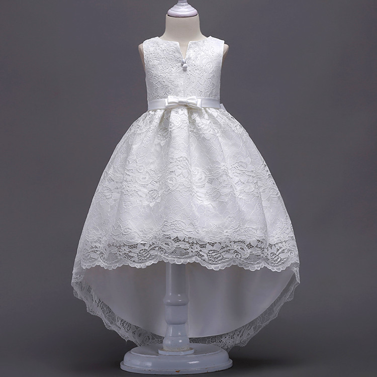 Kids Infant Girls Lace Dress Wedding Bridesmaid Birthday Party Pageant Princess Formal Dress Bow Tulle Tutu Dress 10 12 14 Years girls lace mesh half sleeves dress for princess pageant wedding bridesmaid birthday formal party
