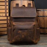 2019 из натуральной кожи рюкзаки для мужчин бизнес универсальный рюкзак школьный рюкзак модные роскошные путешествия