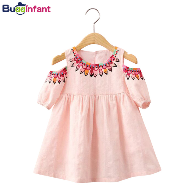 77f34be4ffec Girls Dress Toddler Baby Summer Clothing Beach Style Dresses Off- Shoulder  Infant Little Girl Dress Children Kids Clothe Fashion