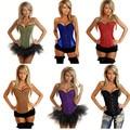 7 Цветов сексуальный корсет бурлеск костюм яркий женщины сексуальный корсет свадебное одежда Размеры S-XXL