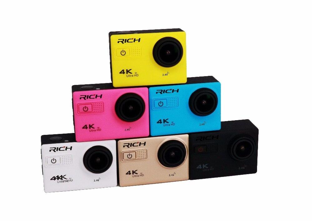 Action Caméra F68 4 k Ultra HD 4 K 24FPS gopro hero4 stlye Wifi Novatek 96660 Étanche F68R télécommande Sports Extrêmes caméra