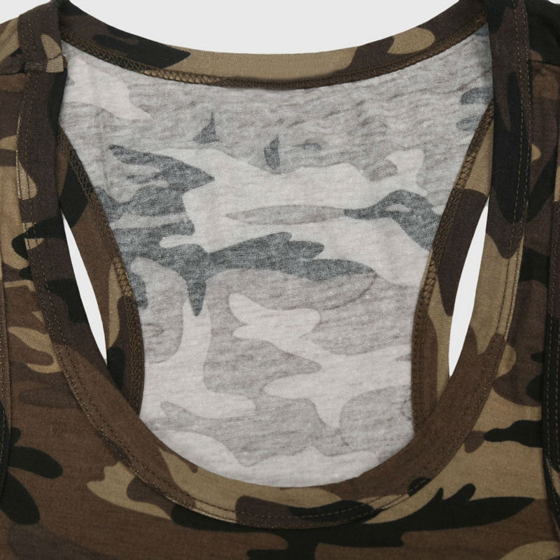 Men Army Military Tank Tops Camo Low Cut Camouflage Vest Top V Neck Sleeveless Navy Green Singlet Tight Graphic