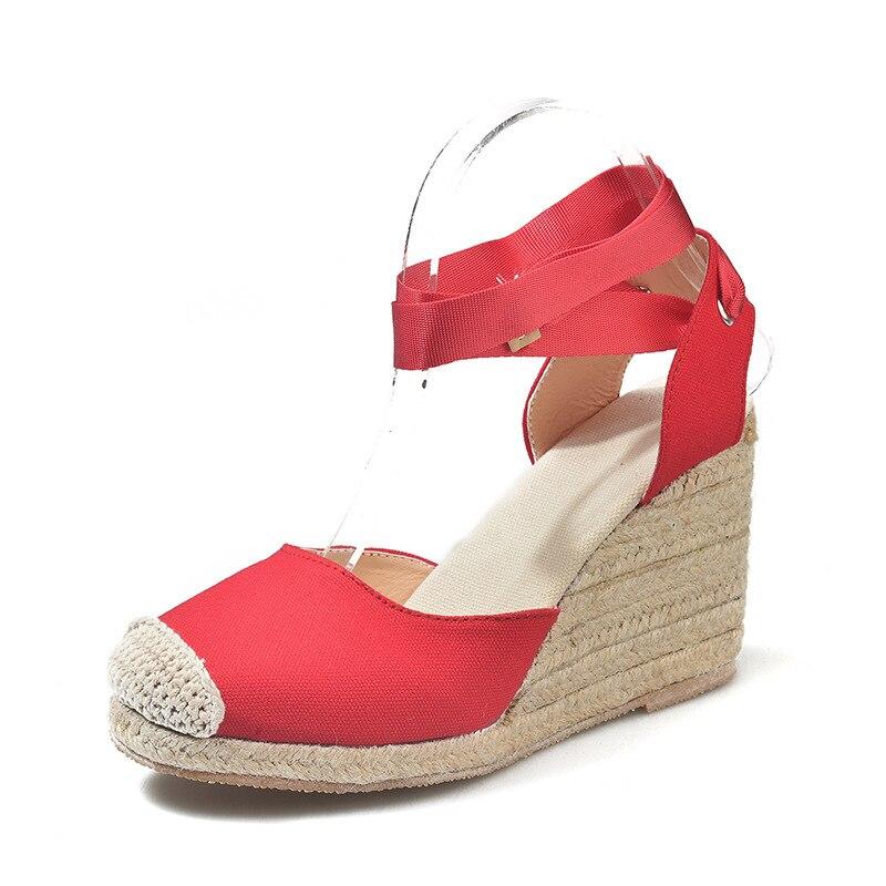 HTB1GBP0afjsK1Rjy1Xaq6zispXa4 Women's Espadrille Ankle Strap Sandals Comfortable Slippers Ladies Womens Casual Shoes Breathable Flax Hemp Canvas Pumps