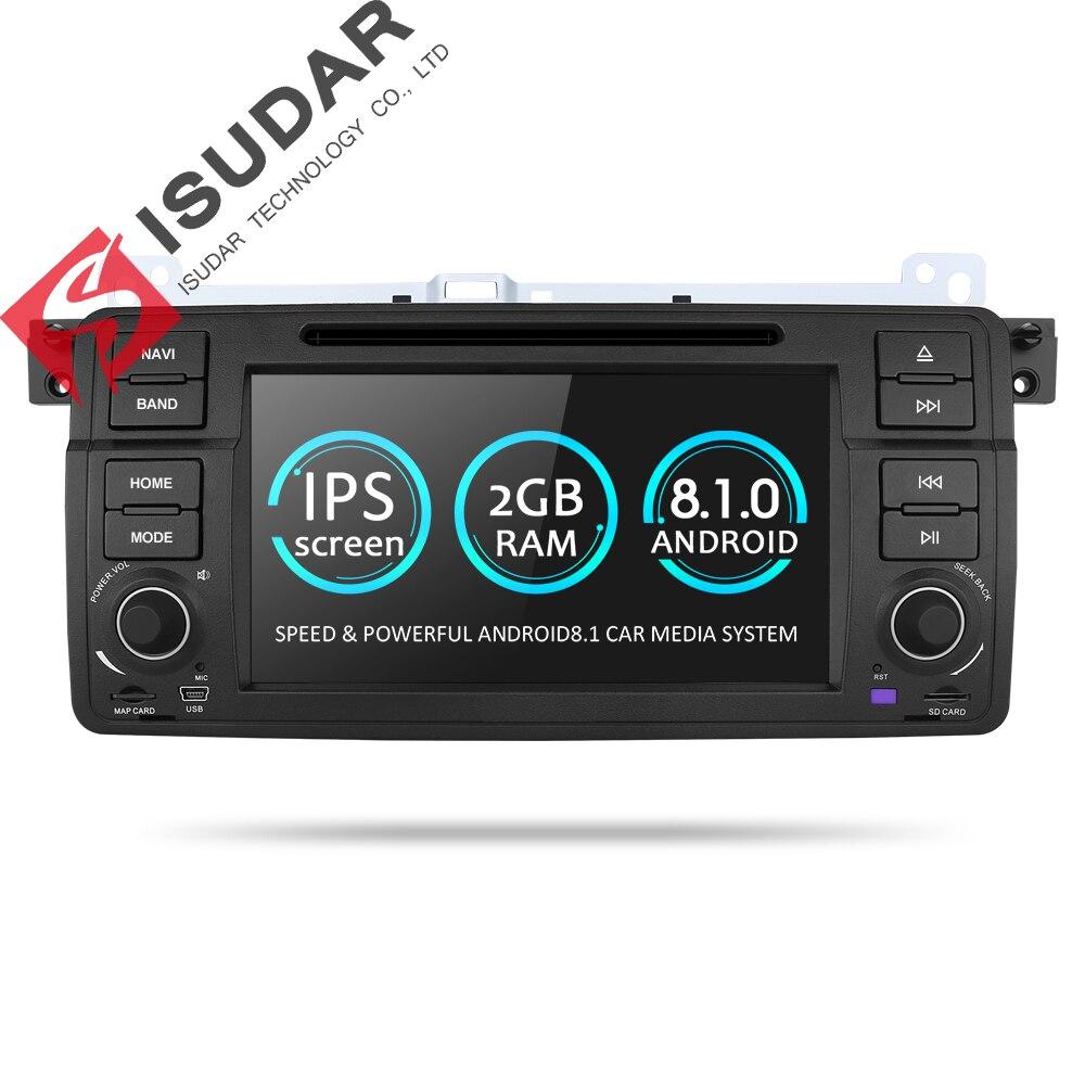 Isudar Автомагнитола на android 7.1.1 1 Din с Сенсорным 7 Дюймовым Экраном для BMW/E46/M3/MG/ZT/Rover 75 4 Ядра Радио FM/AM