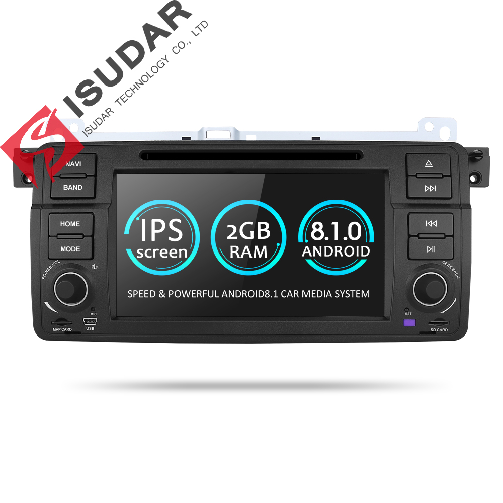 Isudar Car Multimedia player Android 8.1.0 GPS 1 Din DVD Automotivo Per BMW/E46/M3/MG/ ZT/Rover 75 Wifi Radio FM 4 Core 16 gb DSP