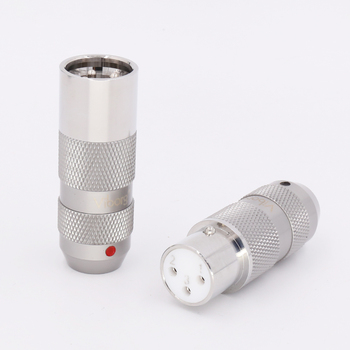 4 шт. Viborg 99.998% Чистая медь родиевое покрытие Соединительный Штепсель XLR аудио кабель баланс 3Pin