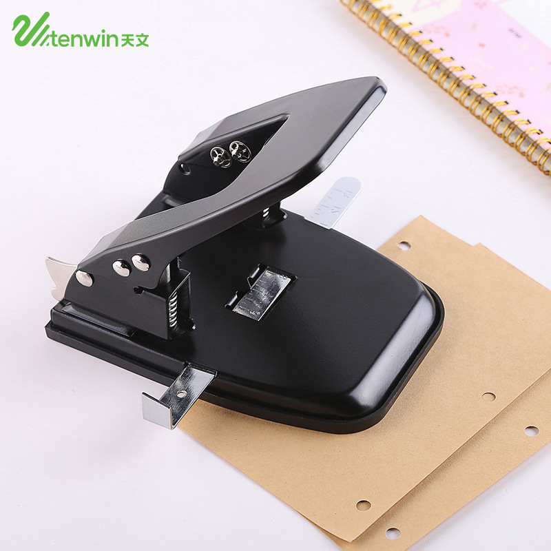 Brand Metal 2 Holes Standard Punch for Paper Document Scrapbook Office Binding Hole Punch Stationery Supplies affordable aiiwin id card badge metal hand held slot hole punch puncher office kit silver