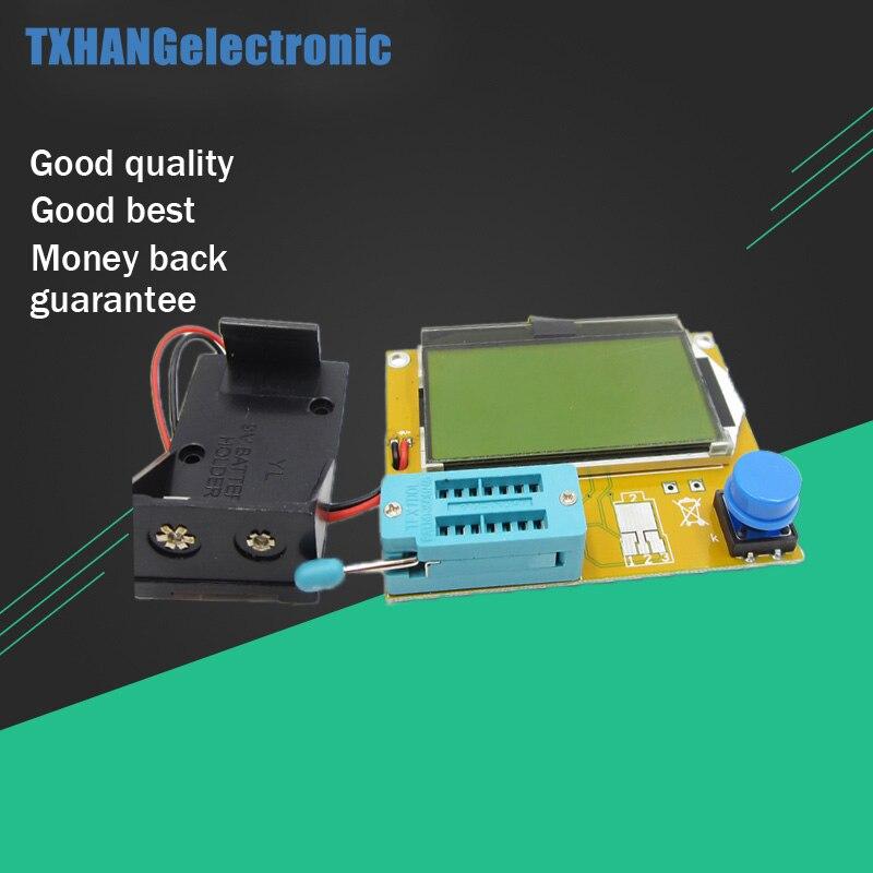 LCR T4 Mega328 M328 Multimeter LCD Backlight Transistor Tester Diode Triode Capacitance ESR Meter 12864 Display