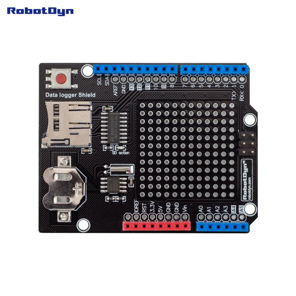Data Logger Shield Compatible For Arduino Microsd Card Rtc Sd Wiring Assembled With Battery In El Products From Electronic Components Supplies On