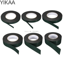 YIKAA 1 pc 10m Length Strong Adhesive Waterproof Double Sided Tape 10mm/12mm/20mm/30mm/40mm/50mm width Foam Green Tape Trim B119
