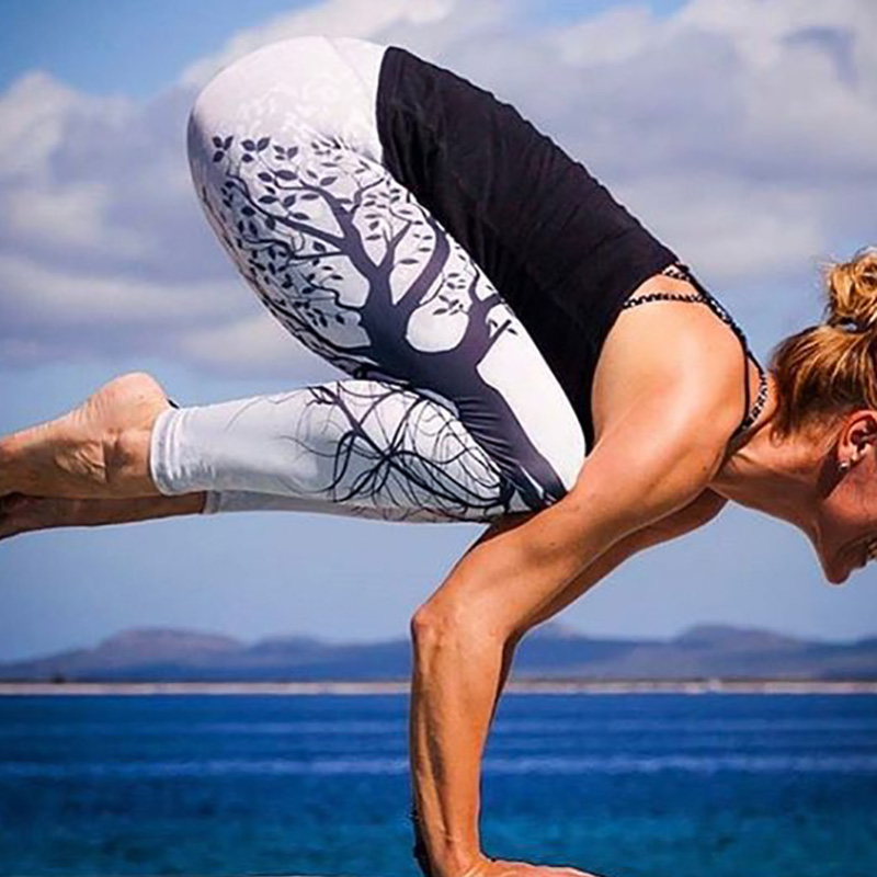 Kostlich Spring Tree Print Women Workout Leggings Put Hip Elastic High Waist Fitness Legging Breathable Slim Pants Women Leggins (22)