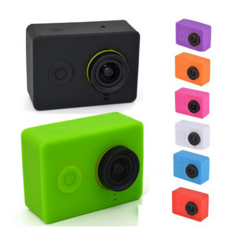 For Xiaomi Yi Action Camera Soft Silicone Case Skin Lens Cap Cover For Xiaomi YI 4K Sports Action Camera Xiaoyi Accessories