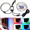 Cabo USB Kit Tira RGB CONDUZIU a Luz Flexível de Volta 50 cm Dois Conjunto de Fitas, Tela Plana LCD Computador Desktop TV LED Backlighting