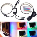 USB Cable RGB LED Light Strip Kit Flexible Back 50cm Two Tapes Set,Flat Screen LCD Desktop Computer LED TV Backlighting