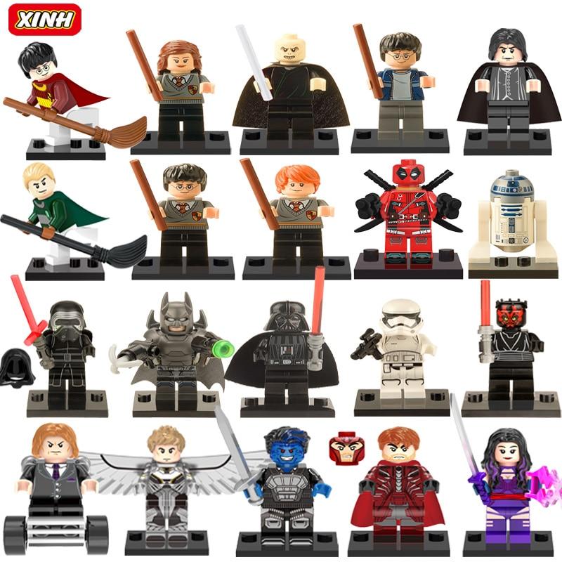 Single Sale Minifigures Harry Potter Marvel Super Hero Avengers Deadpool Batman Building Blocks Sets Bricks Kids Toys