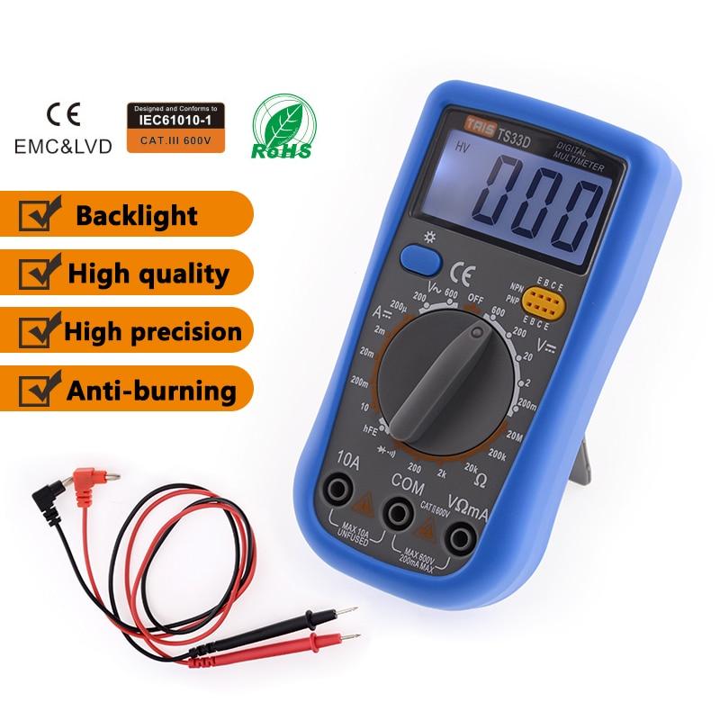 TS-33D AC DC LCD Display Professional Electric Handheld Tester Meter Digital Multimeter Multimetro Ammeter Multitester цена