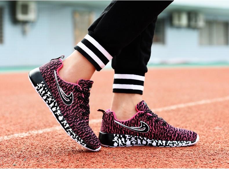 Newest Men Women Running Shoes,Light Weight Mesh Sports Shoes,Flat Jogging Sneakers Walking Shoes -Pink (2)