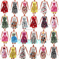Gift Set 5 Pcs Mix Handmade Dress Wedding Party Summer Costume Mini Shoulder Strap Gown For Barbie Doll Clothes Kid Girl Toys