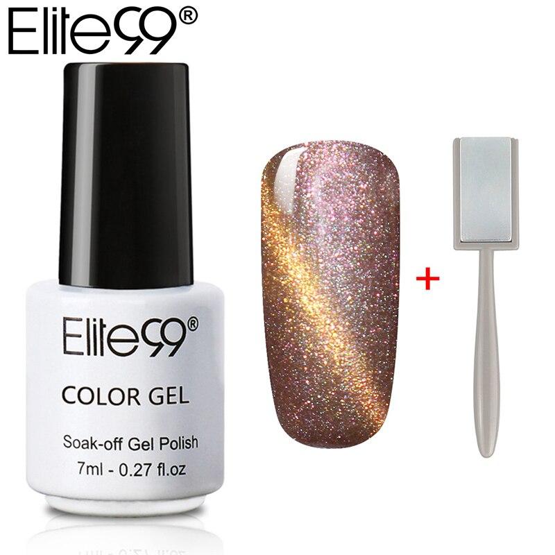 Elite99 Магнитный кошачий глаз Гель-лак для ногтей 7 мл кошачий глаз УФ-лак для ногтей Гель-лак с 3d-эффектом магнитная палочка