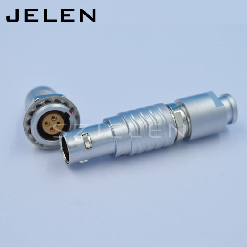 LEMO connector 4 pin male and female, EGG.0B.304.CLL , FGG.0B.304,CLAD**Z, 4 pin power cable plug and socket lemo 0b connector 4 pin plug fgg 0b 304 clad red camera power plug medical connector plug plug surveying instruments