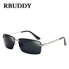 Rbuddy conductor gafas de sol hombre polarizado metal visión nocturna gafas  de sol 2017 gafas de sol rimless cuadrado gafas de s. 0343ee5c1621