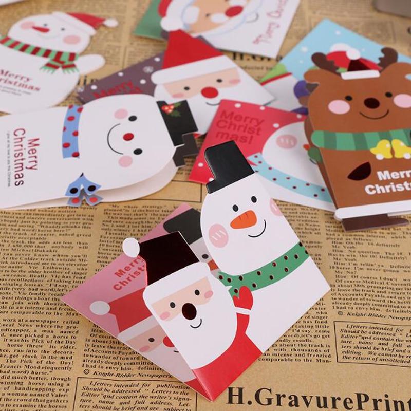 128 pieces/lot)Free Shipping Mini Kawaii Christmas Greeting Card For ...