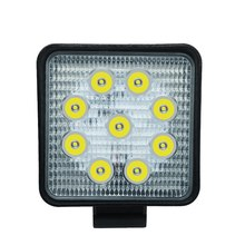 עבודת המכונית אור 27W LED כיכר אור 6000k 2700LM סופר בהיר חיצוני פנס הנורה שיפוץ מחוץ לכביש רכב גג רצועת אור