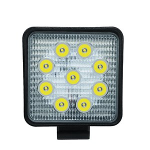 Image 1 - Car Work Light 27W LED Square Light 6000k 2700LM Super Bright Outdoor Headlight Bulb Refit Off road Vehicle Roof Strip Light