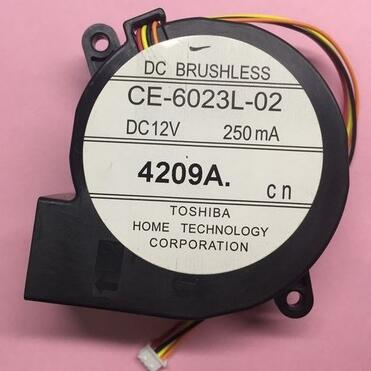 90%NEW fan Free Shipping For TOSHIBA CE-6023L-02 DC 12V 250MA 4-wire 4-Pin connector 100mm Server Blower Cooling fan ripani 6023 mm rip 00004 ecru