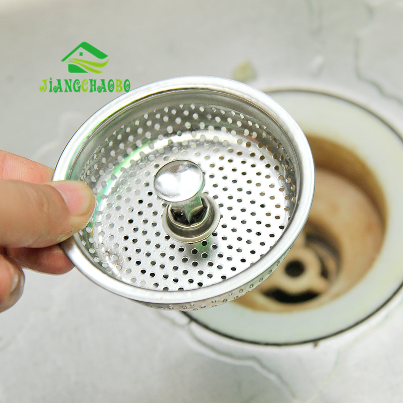 JiangChaoBo Kitchen Sink Drain Anti-blocking Floor Drain Cover Bathroom Sink Hair Stainless Steel Anti-plug Filter