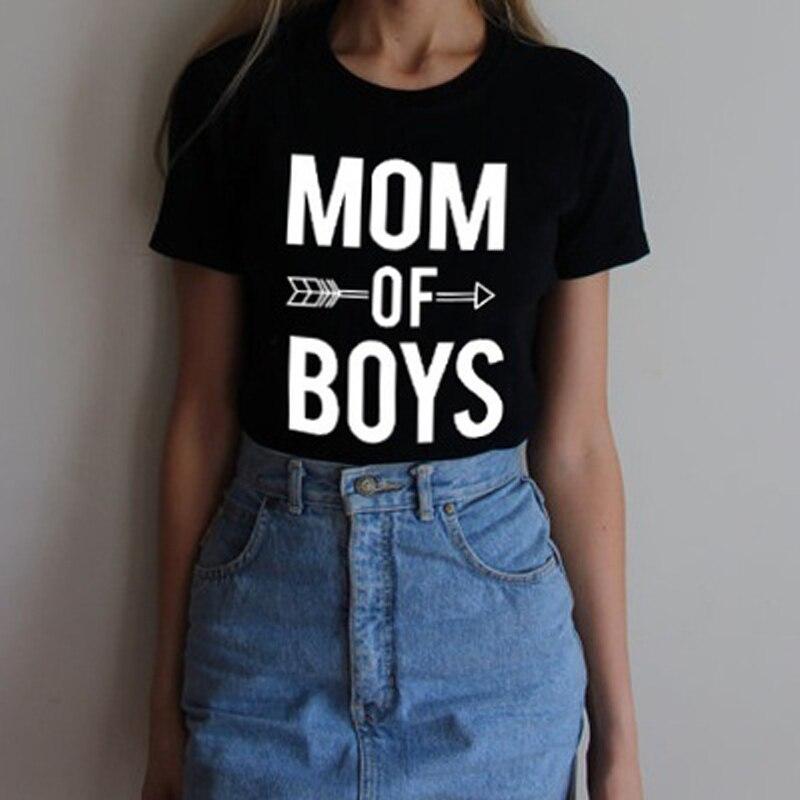 2018 новые летние модные мама Обувь для мальчиков с буквенным принтом 2 цвета с круглым вырезом футболка с короткими рукавами летние хип-хоп Т...