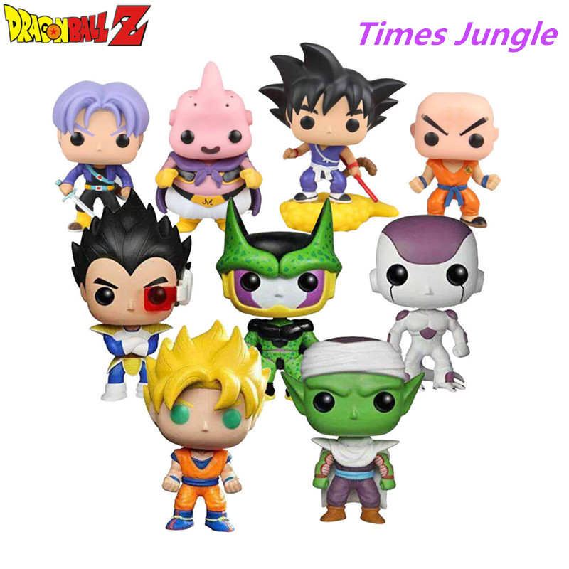 9 Style Dragon Ball Z Action Figur Goku Vegeta Buu Krillin Cell Piccolo Torankusu Action Doll Super Saiyan Model Toy Gave