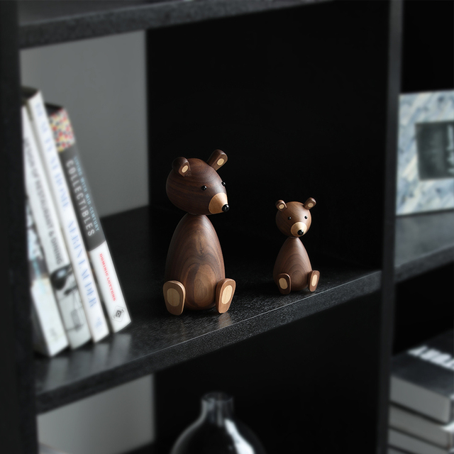Russia Little bear wood ornaments for decor squirrel for furniture wood crafts shipping small gifts wood bear toy ornament home 2