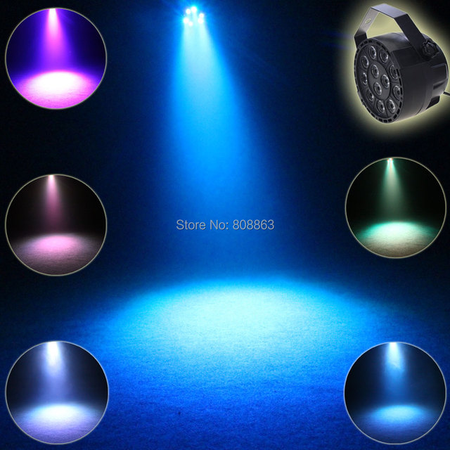 Eshiny Mini Rgbw 12 Led Color Voice Lamp Dmx 512 8ch Flash