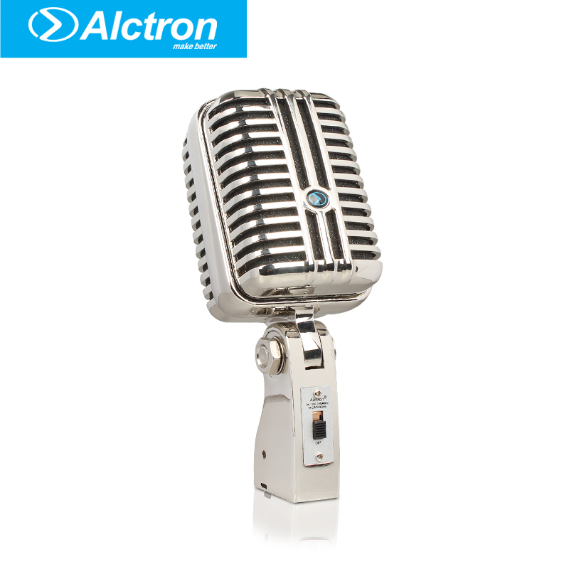 цена на Alctron DK1000 Wired Vintage Classic Microphone High Quality Dynamic Moving Coil Mike Deluxe Metal Vocal Old Style Ktv Mic